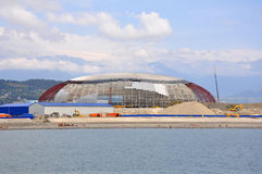 Construction in Sochi Olympic Park Royalty Free Stock Photos