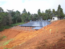 Construction  Solar Chelsea. Implementing Solar Chelsea Stock Photos