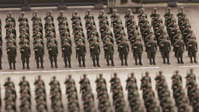 Construction of soldiers on parade ground. ST. PETERSBURG - JULY 2016: Construction of soldiers on parade ground military base in small city, Russia. The Grand stock video