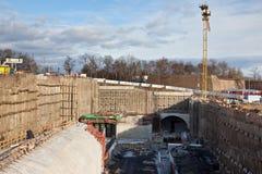 Construction souterraine Photographie stock libre de droits