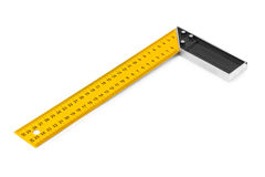 Construction square triangle ruler Stock Images