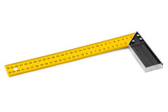 Construction square triangle ruler Stock Photography