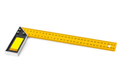 Construction square triangle ruler Stock Image