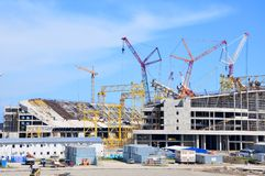 Construction of the stadium Fisht Royalty Free Stock Images