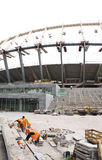 Construction of  stadium in Kiev Royalty Free Stock Images