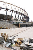 Construction of  stadium in Kiev Stock Photo