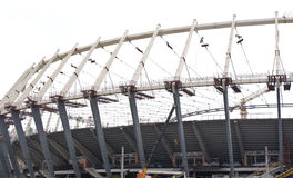 Construction of  stadium in Kiev Stock Images