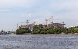 Construction of the stadium on Krestovsky. St. Petersburg Royalty Free Stock Image