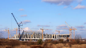 Construction. Of the stadium in Lviv, Ukraine for the European Football Championship Royalty Free Stock Image