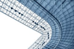 Construction of the stadium roof Royalty Free Stock Photos
