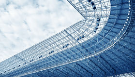 Construction of the stadium roof Royalty Free Stock Images