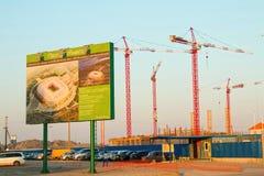 Construction of the stadium. Stock Photography