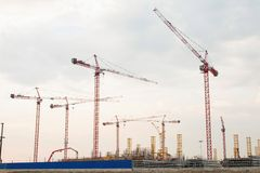 Construction of the stadium. Royalty Free Stock Images