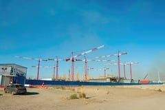 Construction of the stadium. Stock Photo