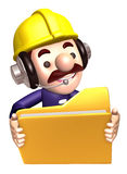 A construction staff hand Grasp the folder Stock Photos