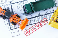 For Construction Stage Drawing Royalty Free Stock Photography