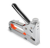 Construction stapler. Industrial stapler on a white background royalty free stock images