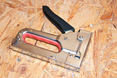Construction stapler Stock Photo
