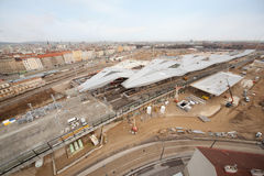 Construction of station in day in Vienna Stock Images