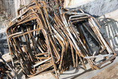 Construction steel bars Stock Images