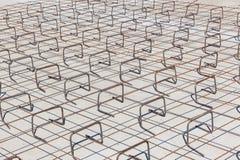 Construction Steel Frame Concrete Floor Stock Images
