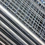 Construction steel mesh. Pile of Construction steel mesh, barriers or reinforcement Stock Photography