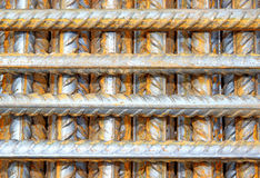 Construction steel reinforcement isolated Stock Image