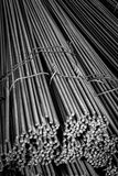 Construction steel_2. Round bar steel for building and concrete works construction Stock Photography