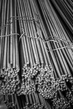 Construction steel_3. Round bar steel for building and concrete works construction Stock Images