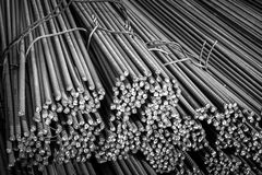 Construction steel_1. Round bar steel for building and concrete works construction Royalty Free Stock Image