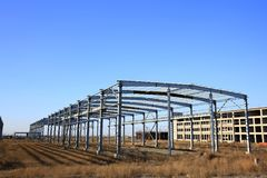 Construction of steel structure Royalty Free Stock Photos