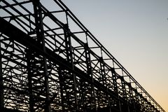Construction of steel structure Stock Photos