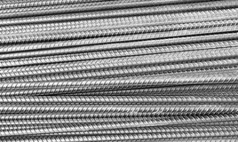 Construction steel texture. Round bar steel for building and concrete works construction Stock Photos