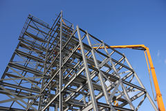 Construction Steelwork Framework Site stock images