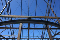 Construction Steelwork Steel framework  structure Stock Photo