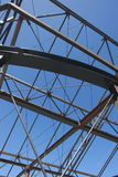 Construction Steelwork Steel framework  structure Royalty Free Stock Images