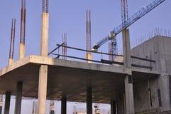 Construction. Structures en béton. Images libres de droits