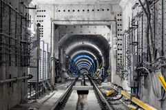 Construction of the subway Stock Photography