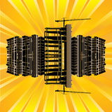 Construction Sunburst Stock Photography