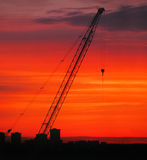 Construction Sunrise Royalty Free Stock Photography