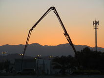 Construction Sunset Stock Photo