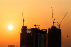 Construction before sunset Stock Photo