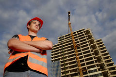 Construction supervisor Royalty Free Stock Images