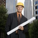 Construction supervisor. Stock Image