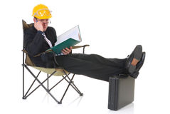 Construction supervisor stock image