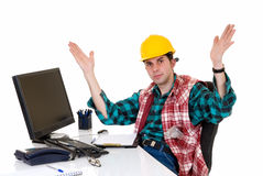 Construction supervisor angry Royalty Free Stock Photos