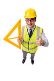 The construction supervisor isolated on the white background Stock Images