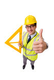 The construction supervisor isolated on the white background Royalty Free Stock Photo