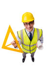 The construction supervisor isolated on the white background Royalty Free Stock Photos