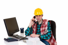 Construction supervisor office Stock Image